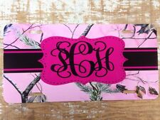 Realtree Pink Camo Personalized License Plate Car Tag Initials Custom Camo New