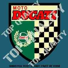 VINTAGE CASTROL DUCATI DECAL STICKER SUIT MOTO MOTORCYCLE DECALS STICKERS