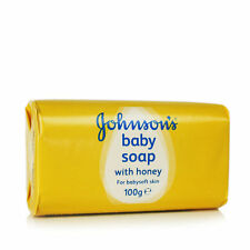 2 x Johnson's Baby Soap with Honey Babysoft Skin Moisturising 100g each