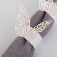 50 Butterfly Napkin Ring Serviette Holder Wedding Party Banquet Dinner Decor