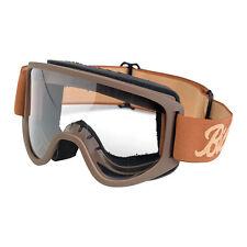 Biltwell Moto Goggle 2.0, Motorradbrille, Chocolate für Jethelme / Antibeschlag!