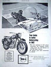 Vintage 1961 B.S.A. '125cc Bantam' Motor Cycle ADVERT - Original Print AD
