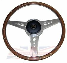 "New 14"" Wood Steering Wheel w/ Adaptor Hub Jaguar XJ6 1974-1987 XJS Moto-Lita"