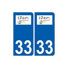 33 Izon logo  ville autocollant plaque stickers droits