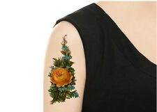 SHIP FROM NY -   Temporary Tattoo - Vintage Yellow Rose