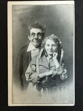 Vintage Circus Postcard - RP Clown And Young Lady