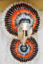 "Native American Navajo War Bonnet Headdress & BUSTLE 36"" diameter ""THUNDERBIRD"""