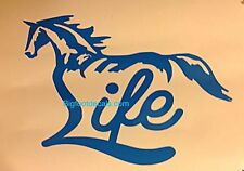 Horse Life Riding Farm Barn Stall Bundy Ranch Cowboy Cowgirl Car Truck decal