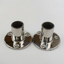 "2PCS Boat Hand Rail Fittings 90 Degree 7/8"" Round Base Marine Stainless Steel"