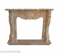 Camino Classico Caminetto Marmo Rosa Portogallo Classic Stone Marble Fireplace