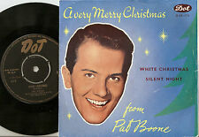 PAT BOONE WHITE CHRISTMAS NORWEGIAN 45+PS 1958