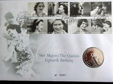 2006 B/U UK £5 COIN SET IN A ROYAL MINT + MAIL PNC QUEEN'S 80th BIRTHDAY