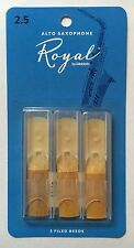 Rico Royal Alto Saxophone Reeds #2.5 (3-Pack) NEW rjb0325