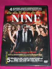 NINE DVD~MUSICAL~romance movie (WS Eng 2010) New & Sealed! A+ CAST! D. Day-Lewis