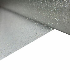 CLEAR TRANSPARENT GLITTER PVC VINYL WIPECLEAN TABLECLOTH COVER PROTECTOR