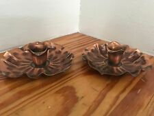 Pair Of Vintage Copper Candle Holders ~ Gregorian Solid Copper USA signed Nice!