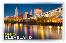 CLEVELAND OHIO USA FRIDGE MAGNET SOUVENIR IMAN NEVERA