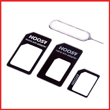4 IN 1 Nano Sim Karten Adapter Micro Nadel iPhone 5 6 Plus Samsung HTC NOOSY Z7