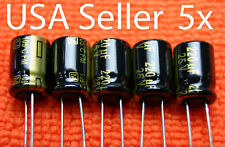5x Panasonic FM 220uF  25V Low-ESR Electrolytic Capacitor. NEW, USA Seller