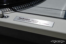TECHNICS SL-1200 MK2 Turntable Plaque / Logo / Decal (HIGH QUALITY)