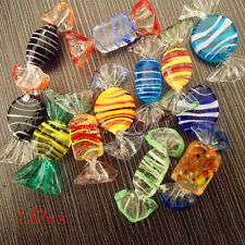 12pcs Vintage Murano Glass Sweet Candy Wedding Party Ornaments Decorations Gift
