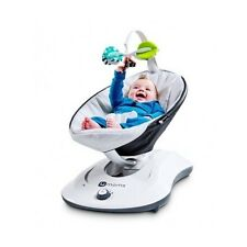 Baby Infant Swing Rocker Compact Cradle Toddler Seat 5 Speeds Motion Chair Grey