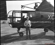 8x10 Print Navy Airman Photographer Helicopter 1947 #5502515