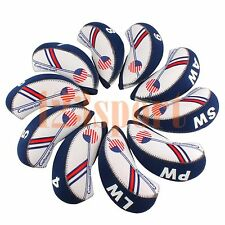 10PCS Neoprene Golf Iron Covers HeadCovers 4#-LW For Taylormade M2 Cobra Ping