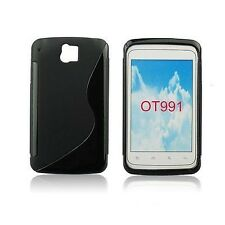 CUSTODIA COVER per ALCATEL ONE TOUCH 991 OT991 BACK CASE S-LINE NERA