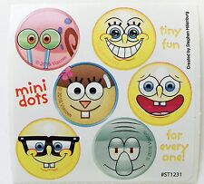 60 Spongebob Squarepants Silly Faces  Dot Stickers Party Favors Teacher Supply