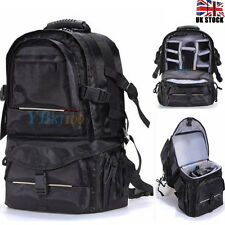 Large DSLR SLR Camera Backpack Rucksack Bag Case RainCover For Nikon Sony Canon
