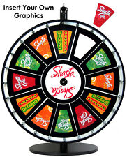 24in Prize Wheel dry erase print and insert your own paper graphics and logo