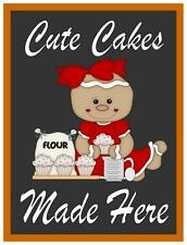 Cup Cake Shop Sign Kitchen Bake off Sign Bakery Cake Sign
