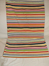 PAIR OF (2) IKEA AKERVALLMO MULTICOLOR STRIPED/STRIPES THROW PILLOW COVERS EUC!