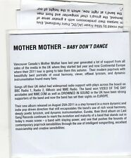 (FF586) Mother Mother - Baby Don't Dance - 2011 DJ CD