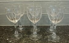6 Vintage Towle Crystal Goblets Wine Glasses - Austria - 8 ounce - Spear