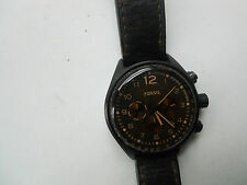 FOSSIL CHRONOGRAPH MEN'S BROWN LEATHER BAND ANALOG DRESS WATCH.CH-2782