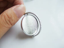 10xTibetan Silver Globe Shape Setting Tray Base Cabochon 25mm Round Blank Charms