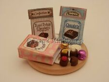 Dolls house food: Chocolate shop bags of assorted chocolates    -By Fran