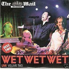 PROMO CD  Wet Wet Wet  Live Vol 2    THE MAIL ON SUNDAY