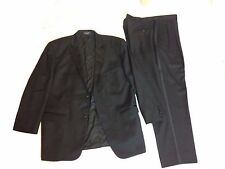 Tailored Fully Lined Black Nordstrom Wool 2 PC Tuxedo Suit 48R Men's 42 Waist