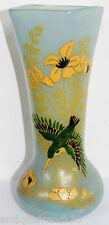 Joli vase verre émaillé Legras belle qualité d'émaillage 26,5cm art french glass