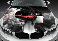 Abstract Girl Full Color Graphics Adhesive Vinyl Sticker Fit any Car Hood #070