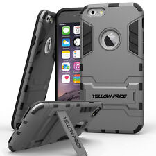 Genuine YELLOW-PRICE Hybrid Armor Stand Case Hard Soft Cover for iPhone 6 Plus