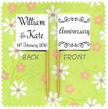 20 PERSONALISED ANNIVERSARY CUP CAKE FLAG Party Pick Wedding Topper Decoration