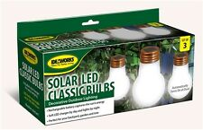 3 Classic Hanging Solar LED Lights Pathway Garden Yard Deck Automatic Markers
