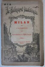 MILAN J. Hardmeyer Weber Europe Illustrée fine '800 guida di Milano Orell Fussli