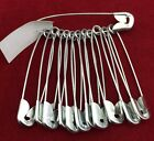 12 Metal Large Size Safety Pin Craft Pins Just £0.99