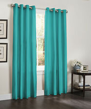 TWO BLACKOUT WINDOW CURTAINS, 55x84, LINED HEAVY THICK PANEL, ERIN, BROWN