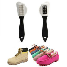 1 x 3-Sides Cleaning Brush For Suede Nubuck Shoes Boot Cleaner Reusable
